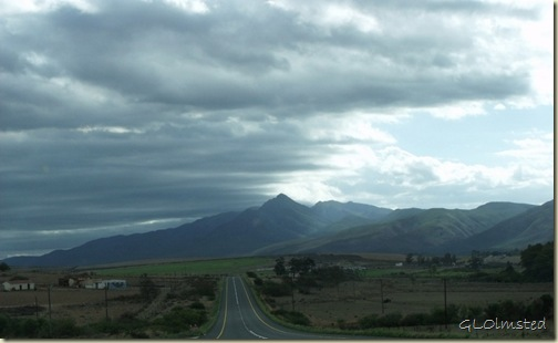 Storm clouds over N2 West Little Karoo Western Cape South Africa