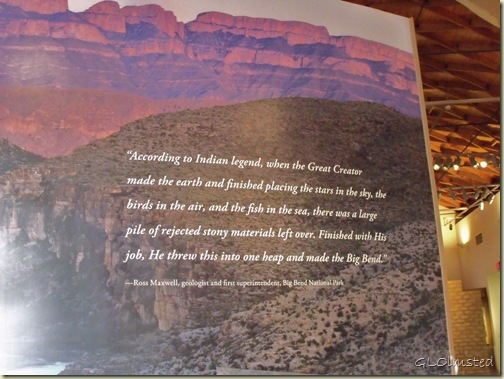 Creation quote Museum of the Big Bend Alpine Texas