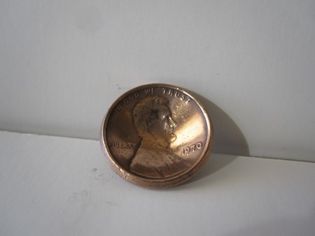 DIY penny button