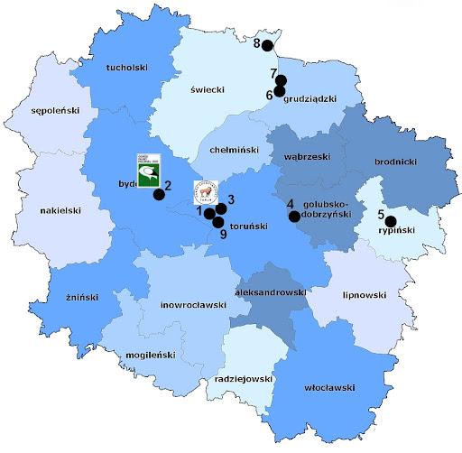 Zwierzyńce województwa kujawsko-pomorskiego