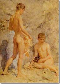 Tuke,_Henry_Scott_(1858–1929)_-_1914_ca_-_Two_boys_and_a_dog