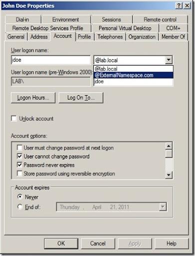 UPN-Account