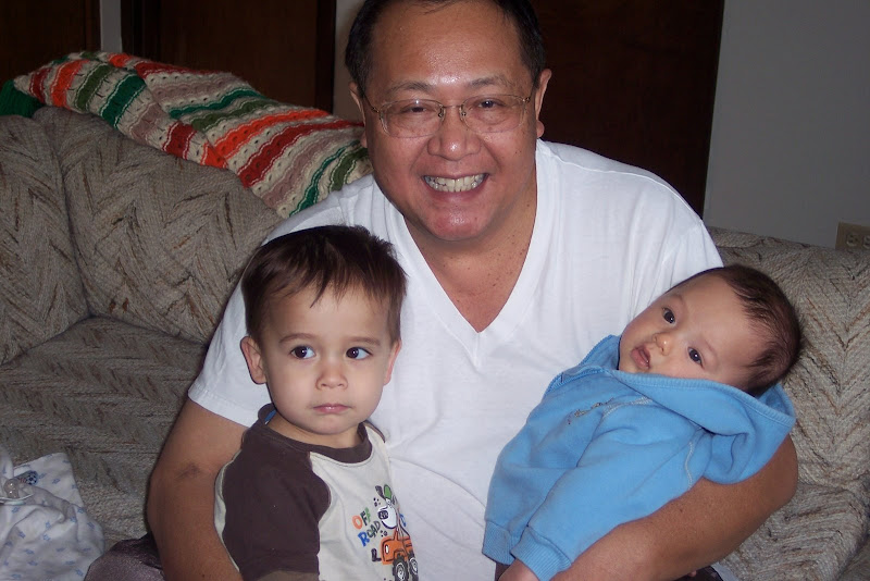 With Papa Art and Baby Kai