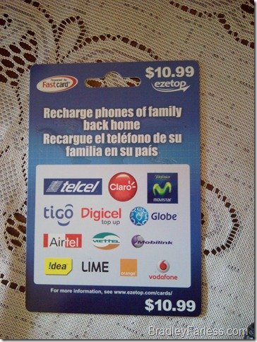 Reload your Globe phone from the US with an ezetop card.