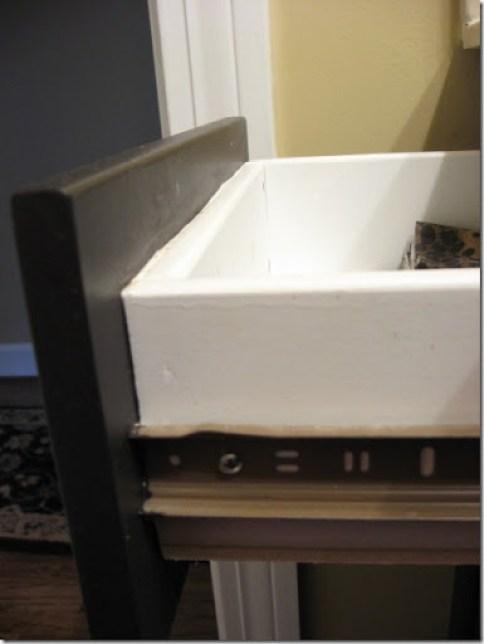 Painted laminate drawer