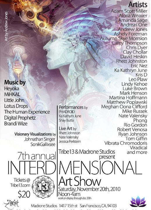 Interdimensional Art Show flyer