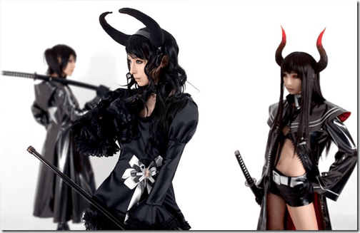 black rock shooter cosplay - black rock shooter, dead master, and black gold saw