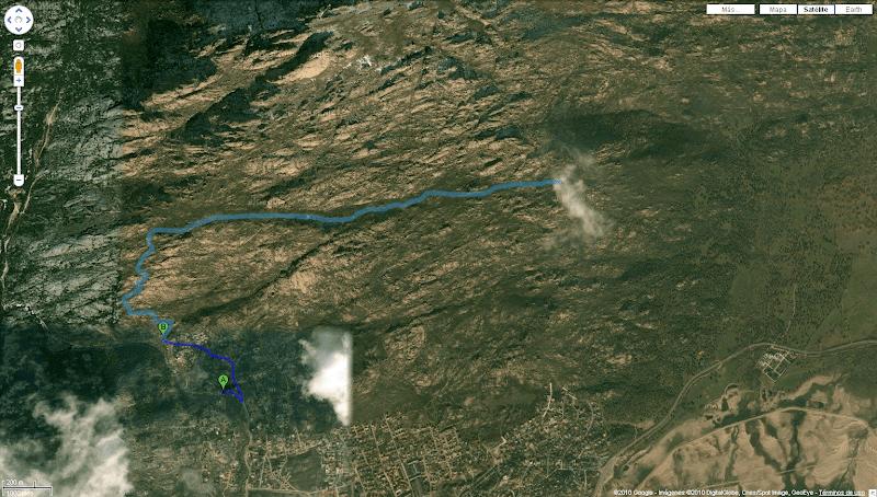 Ruta vista de águila