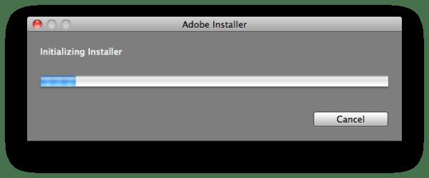 Adobe Installer Initializing