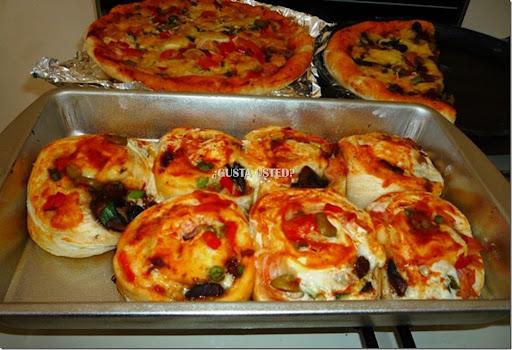 18 Pizza roles hechos