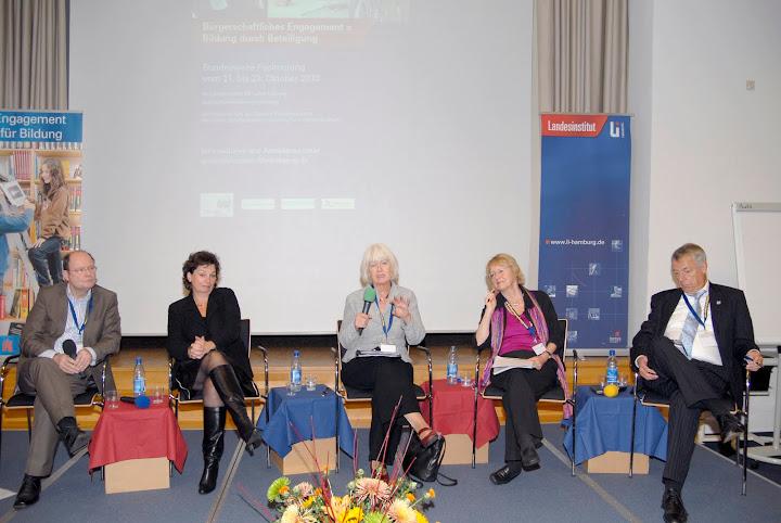 Teilnehmer der Podiumsdiskussion © Jonas Kolenc