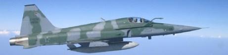Modelo F-5 usado na perseguição.