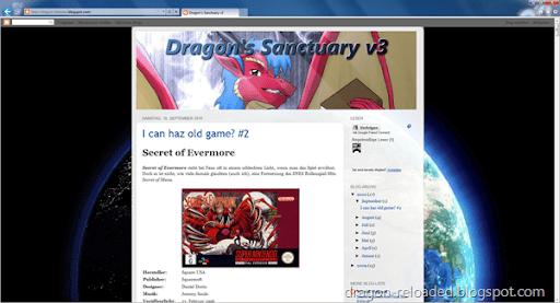 Blog im IE9