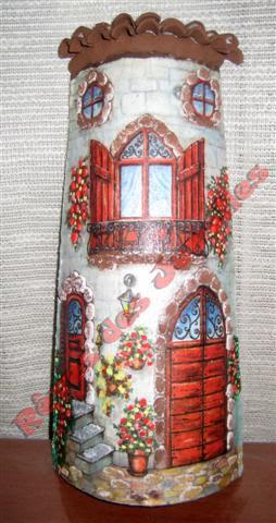 Resultado de imagen de tejas decoradas con papel de arroz