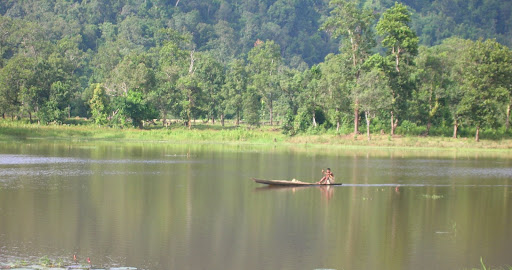 Boatman on Chandubi Lake