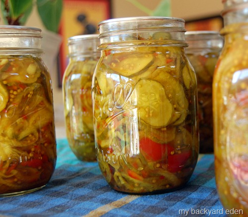 Finished!  Bread and Butter Pickles