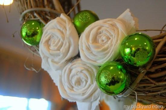 Christmas Rosette Wreath