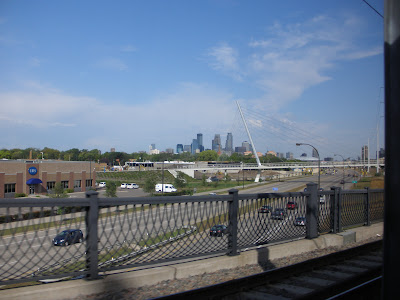 View of downtown from the rail.