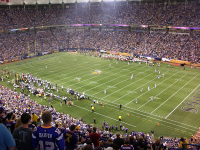 Heres a good picture of our view.  After some fireworks and pregame festivities it was time for kickoff!