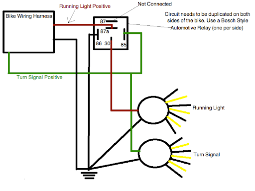 Motorcycle Lights Wiring Diagram?resize\=512%2C384 motorcycle turn signal wiring diagram & \