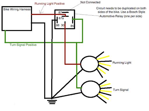 Motorcycle Lights Wiring Diagram?resize\=512%2C384 motorcycle turn signal wiring diagram & \
