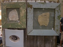 The Estate of Things chooses Framed vintage baby bonnets at Nursery Decor ideas