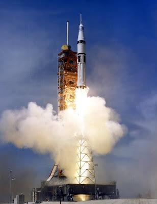 Apollo launch of the Apollo-Soyuz Test Project