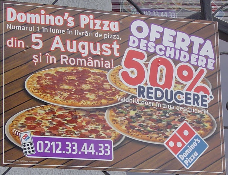 Reducere la Domino's Pizza 5 august 2010