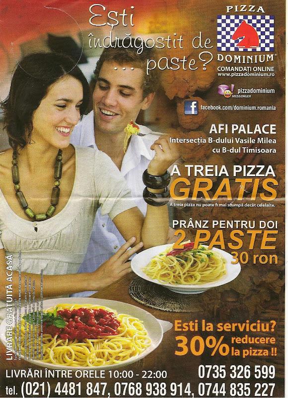Pizza Dominium Bucuresti - pliant Noiembrie 2010