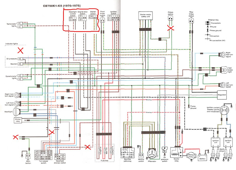 Color Wiring Diagram CRacer?resize\=665%2C479 1972 cl100 scrambler wiring diagram 1971 honda cl100 motorcycle 1972 CL100 Project at panicattacktreatment.co