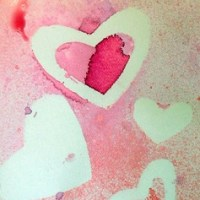 Spray Paint Valentine's Cards