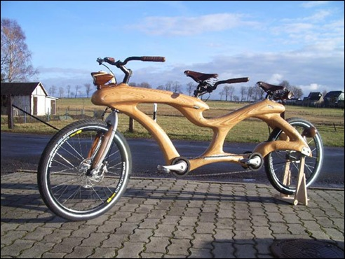 Unique Wooden Bicycle 01