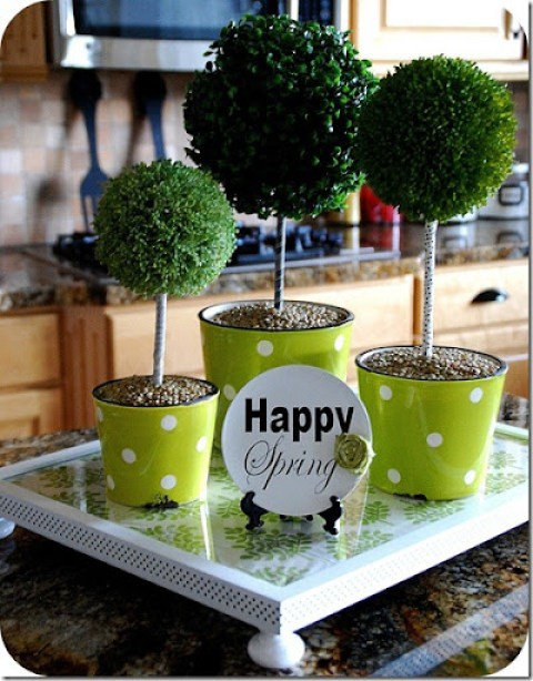 spring centerpiece topiaries