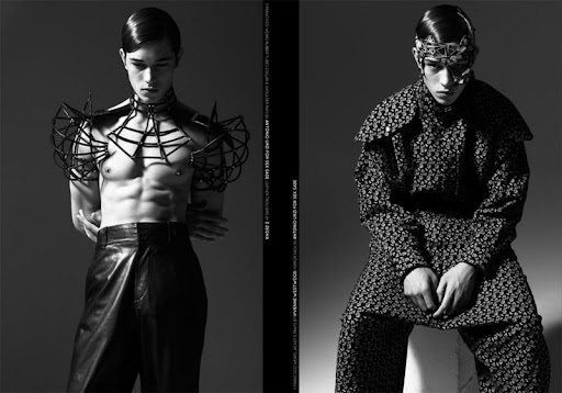 NEW WAVE MEN'S EDITORIAL »THE DEFENSIVE END« SHOT BY MASSIMO PAMPARANA