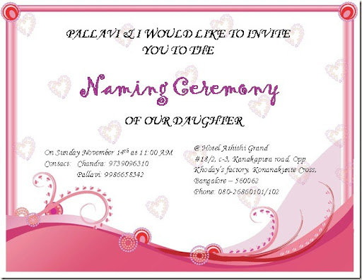 Naming Ceremony Invitation Card Sample In Marathi | Paperinvite