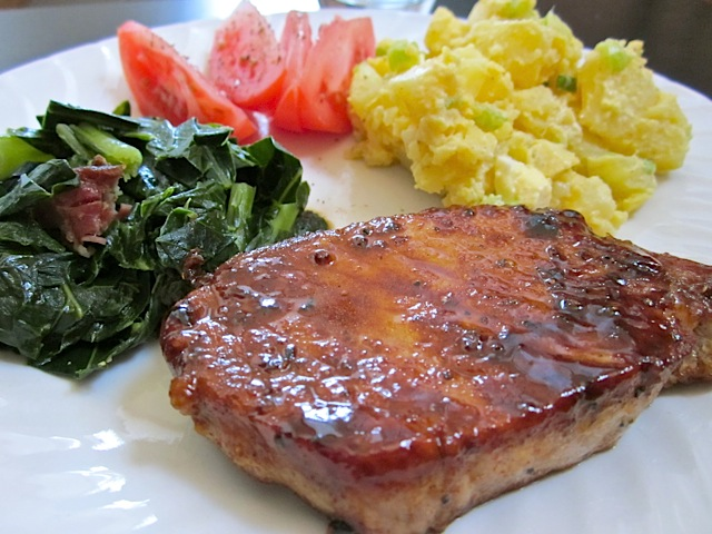 Glazed Pork Chop Dinner