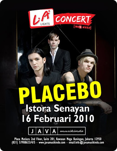 Placebo Concert Poster