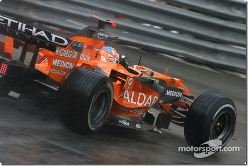 26.05.2007 Monte Carlo, Monaco, Adrian Sutil (GER), Spyker F1 Team, F8-VII - Formula 1 World Championship, Rd 5, Monaco Grand Prix, Saturday Practice - www.xpb.cc, EMail: info@xpb.cc - copy of publication required for printed pictures. Every used picture is fee-liable. © Copyright: Charniaux / xpb.cc