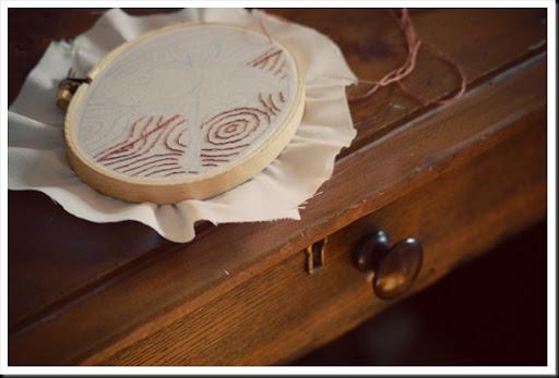 luna moth embroidery