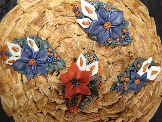 Martisoare handmade elegate, brosa Fimo