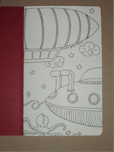 sketchbook project inside front cover