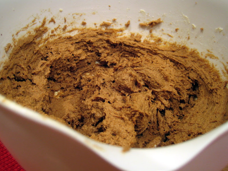Ginger cookie batter before being chilled