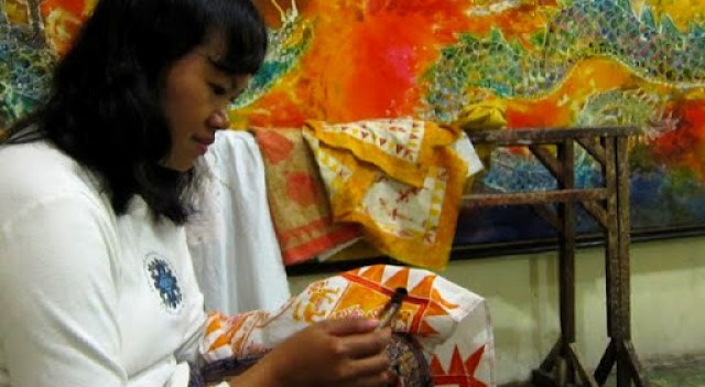 Batik making in Yogyakarta