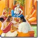 Shukadeva Goswami instructing Parakshit