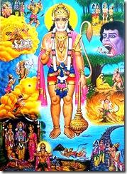 Hanuman and his pastimes