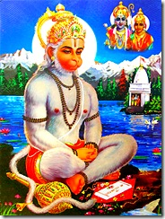 Hanuman is Rama's faithful servant