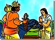 Savitri praying to Yamaraja