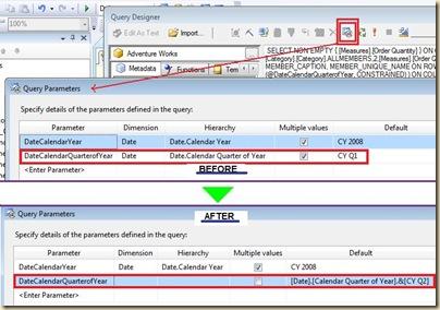 Modifying parameter properties