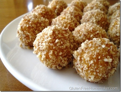 nutty apricot balls on plate