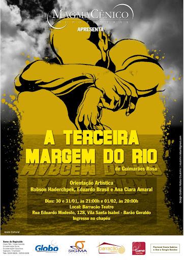 Cartaz da peça Terceira Margem do Rio